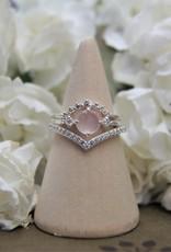 Tashi Pink Chalcedony & Cubic Zirconia Ring