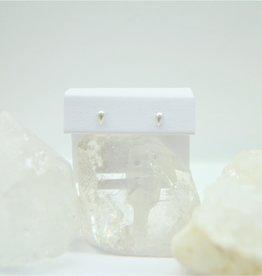 Tashi Little Pod Stud Earrings - Brushed Silver