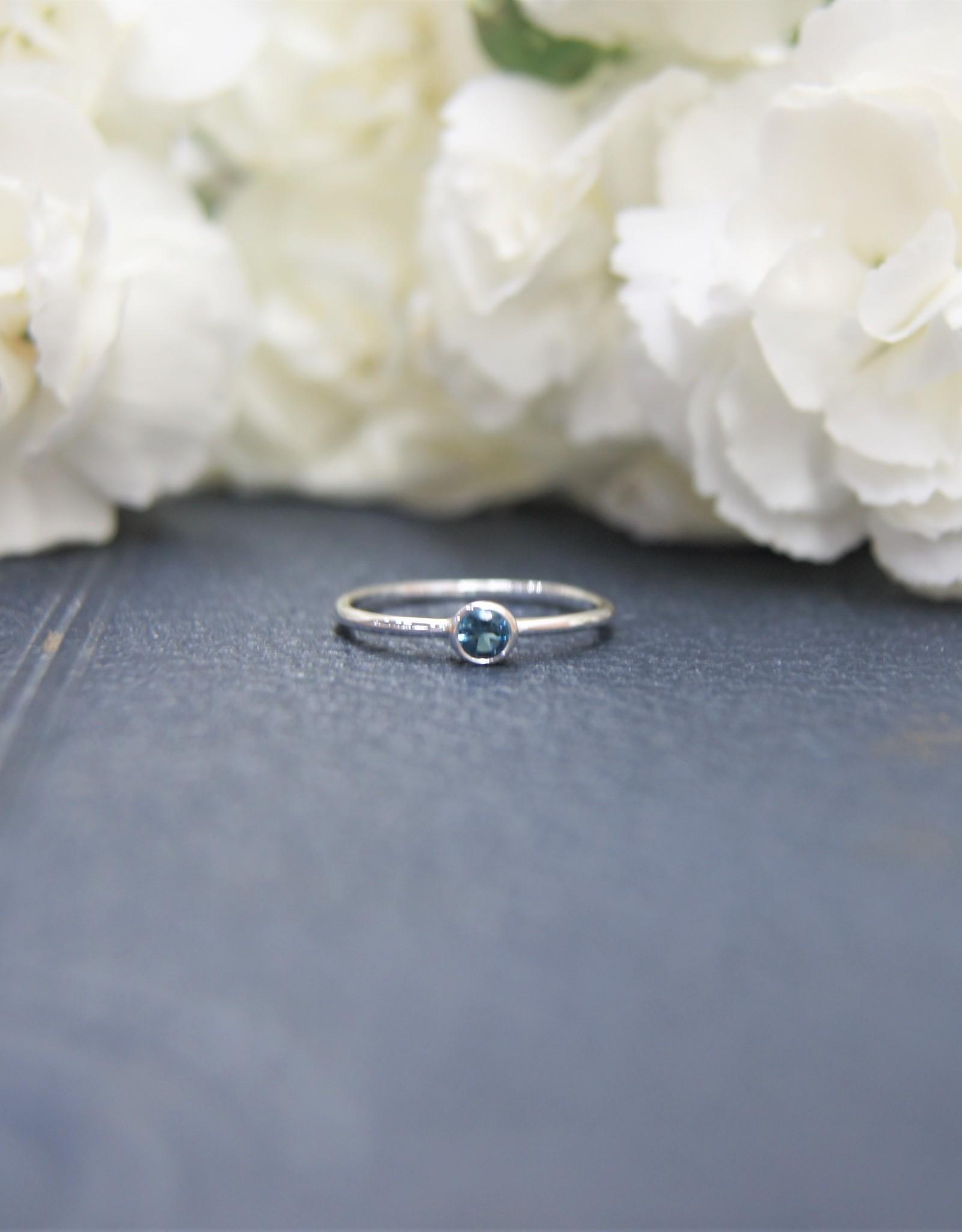 Tashi Stacking Ring with London Blue Topaz