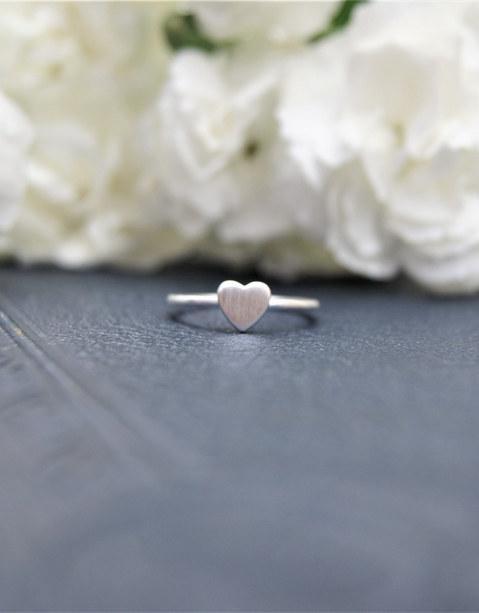Tashi Brushed Silver Heart Ring