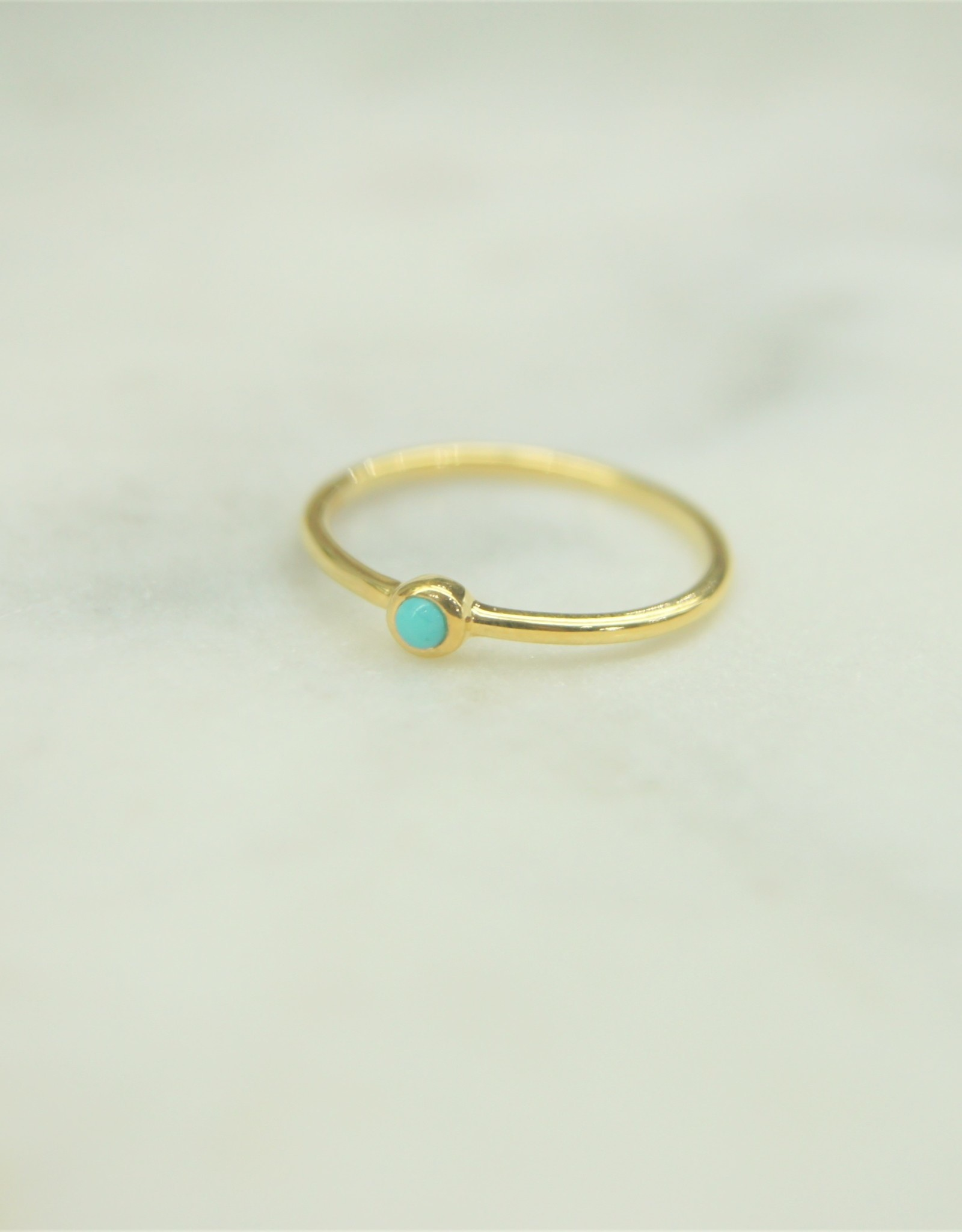 Tashi Turquoise Stacking Ring - Gold Vermeil