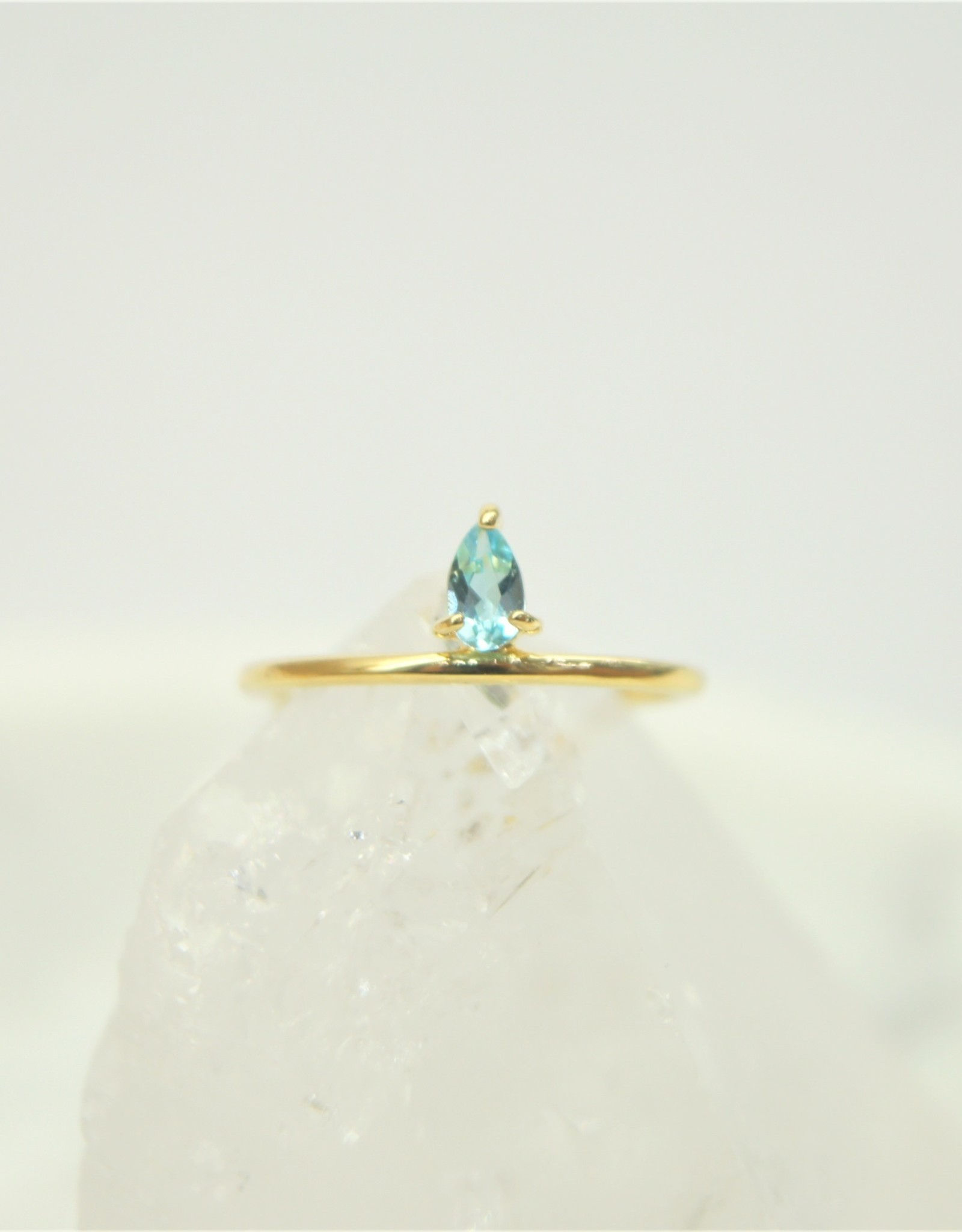 Tashi Pear Shaped Blue Topaz Ring