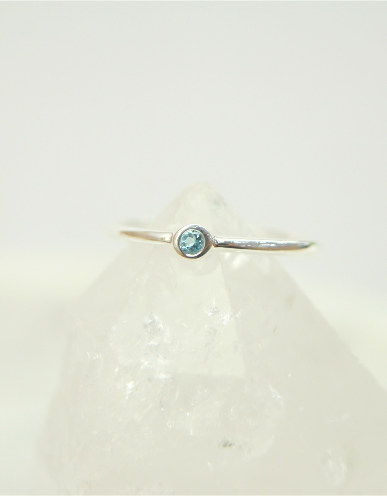 Tashi Tiny Blue Topaz Stacking Ring