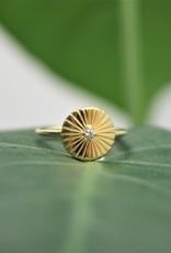 Tashi Sunray Disc Ring