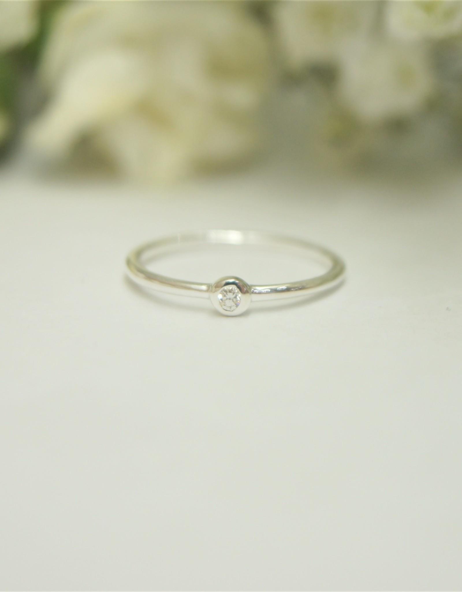 Tashi Cubic Zirconia Stacking Ring