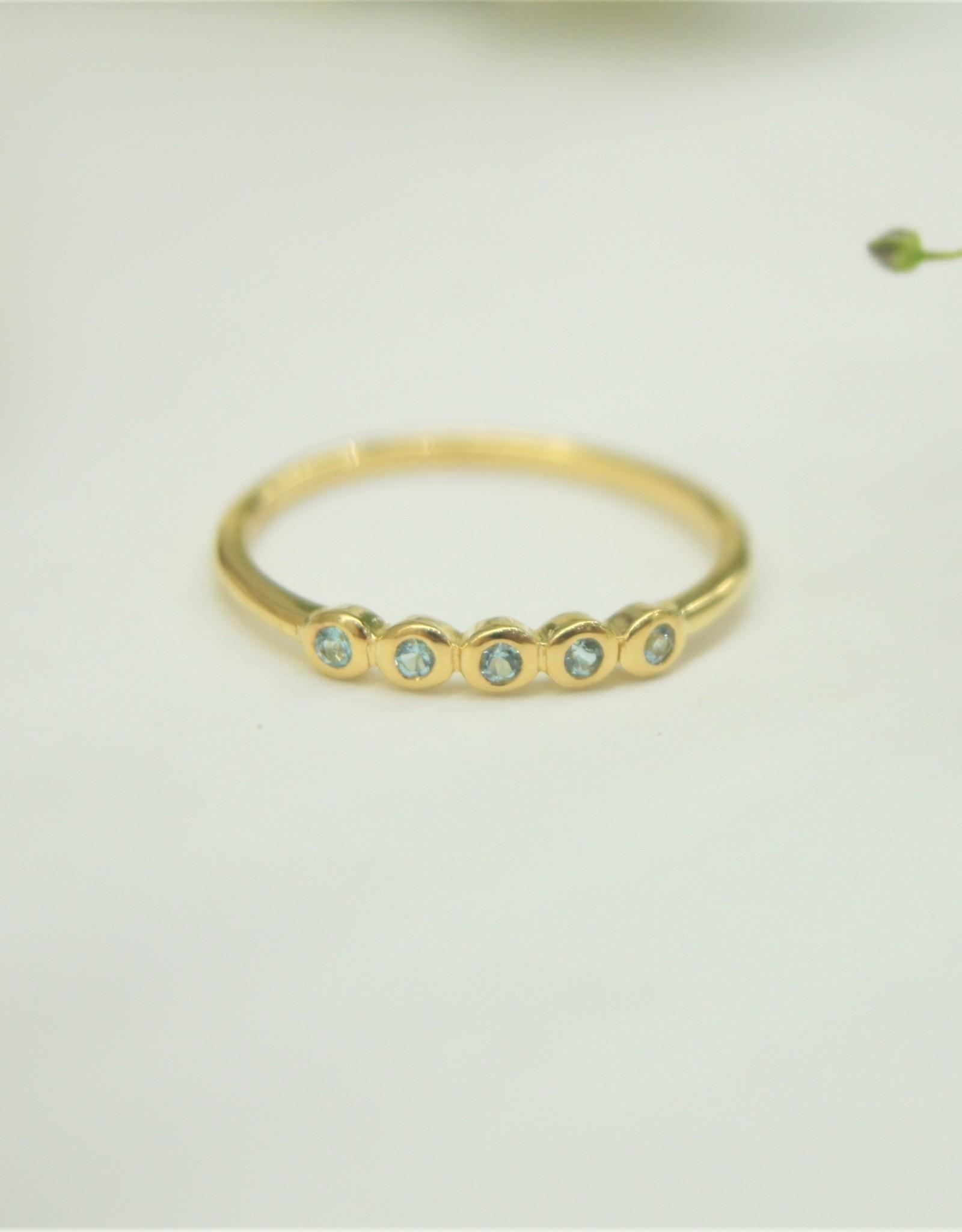 Tashi Blue Topaz Stone Bezel Ring