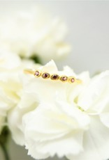 Tashi Garnet Stone Bezel Ring