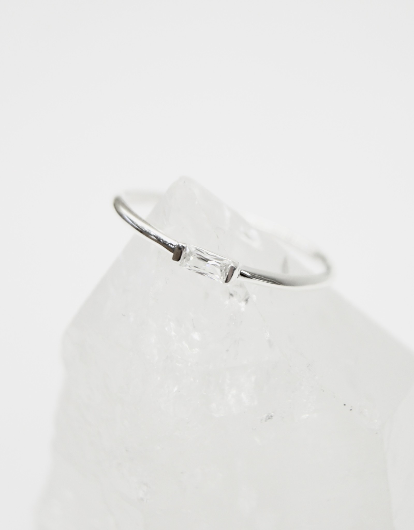 Tashi Band with Channel-Set Cubic Zirconia Ring
