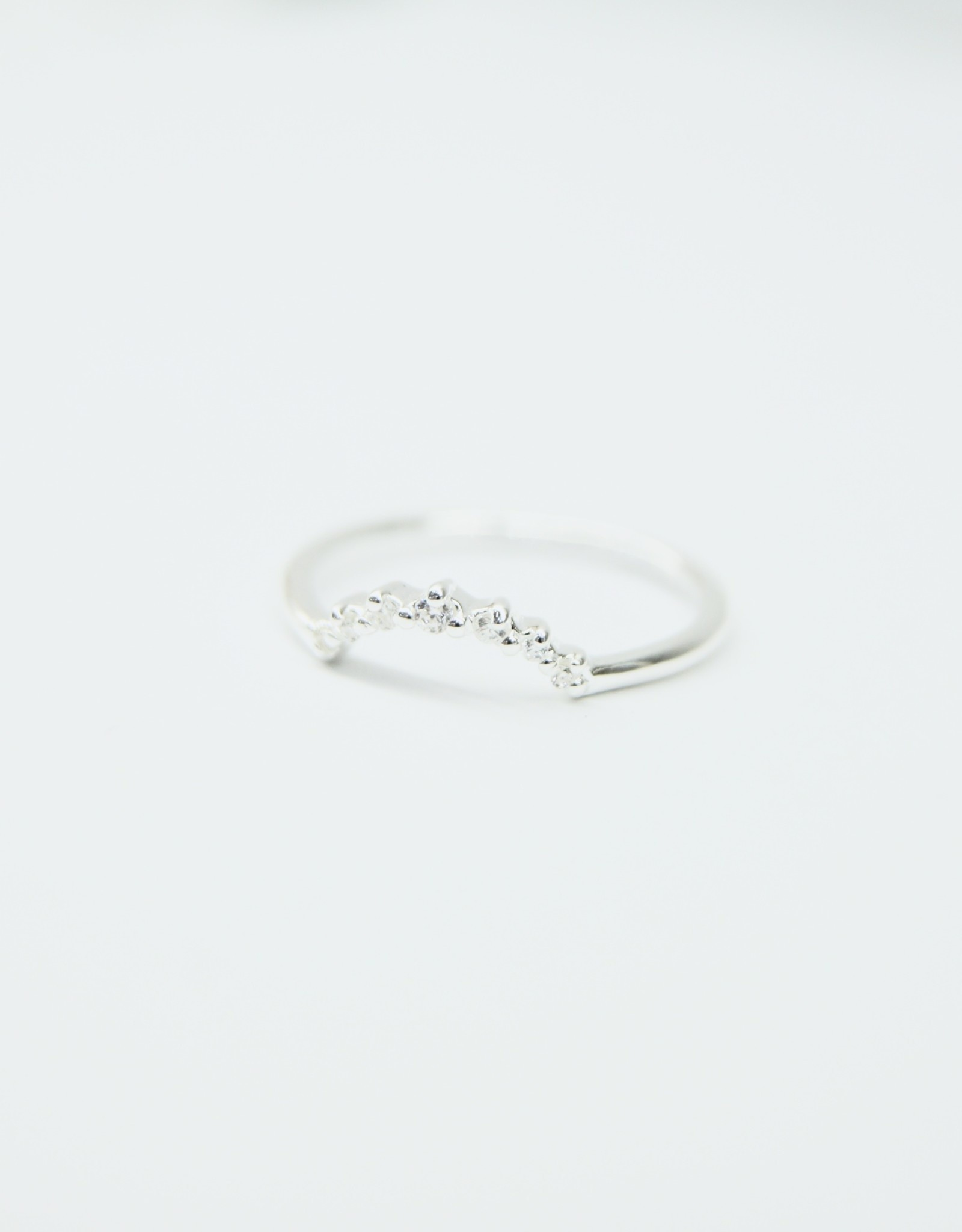 Tashi Little Arc Stacking Ring with Cubic Zirconia