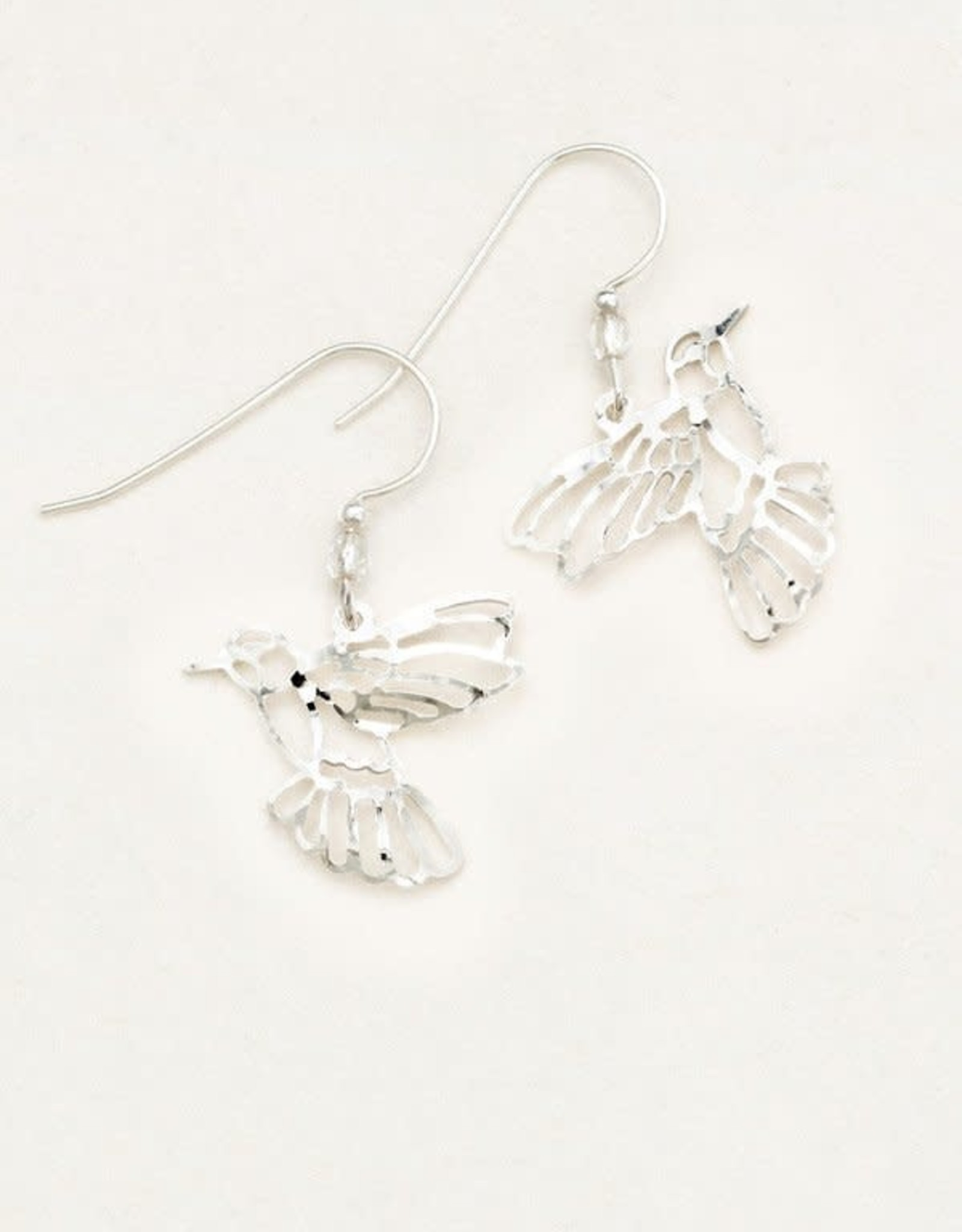 Holly Yashi  Silver Hummingbird Earrings