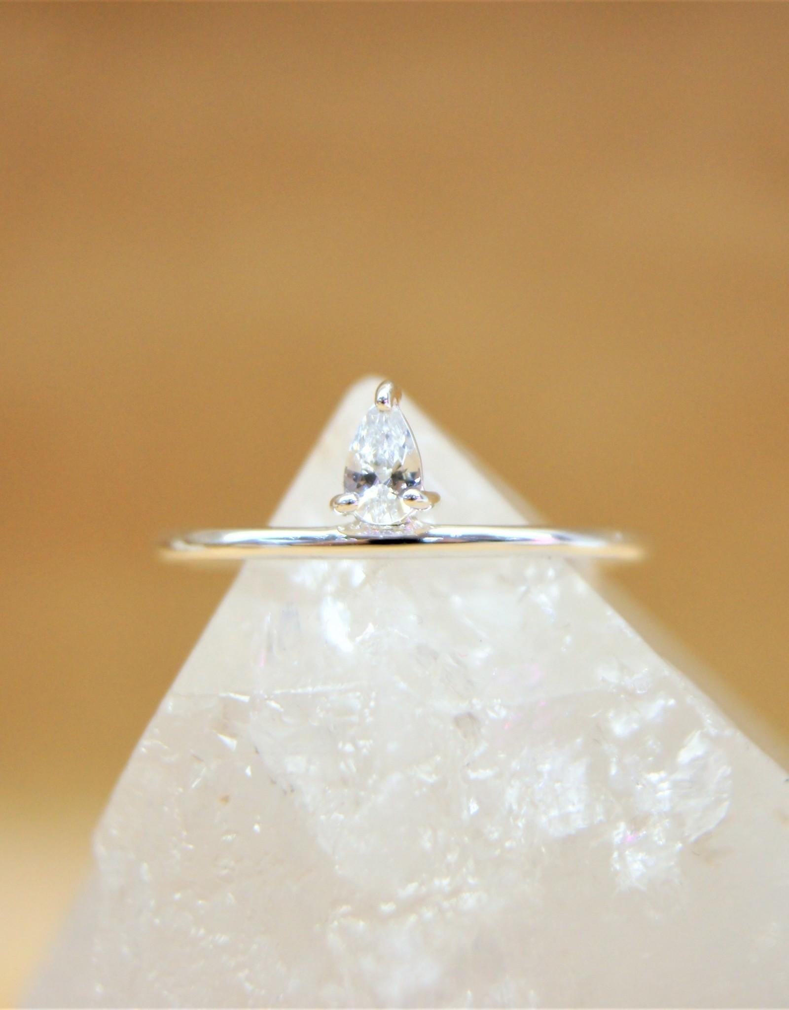 Tashi Pear Cubic Zirconia Ring