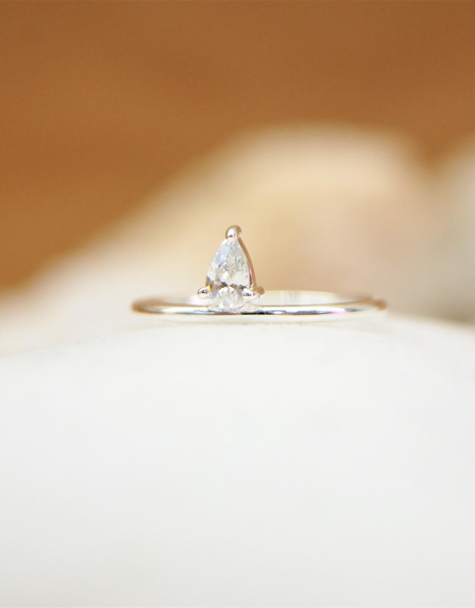 Tashi Prong Set w/ Cubic Zirconia Ring