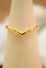 Tashi Chevron Ring - Gold Vermeil