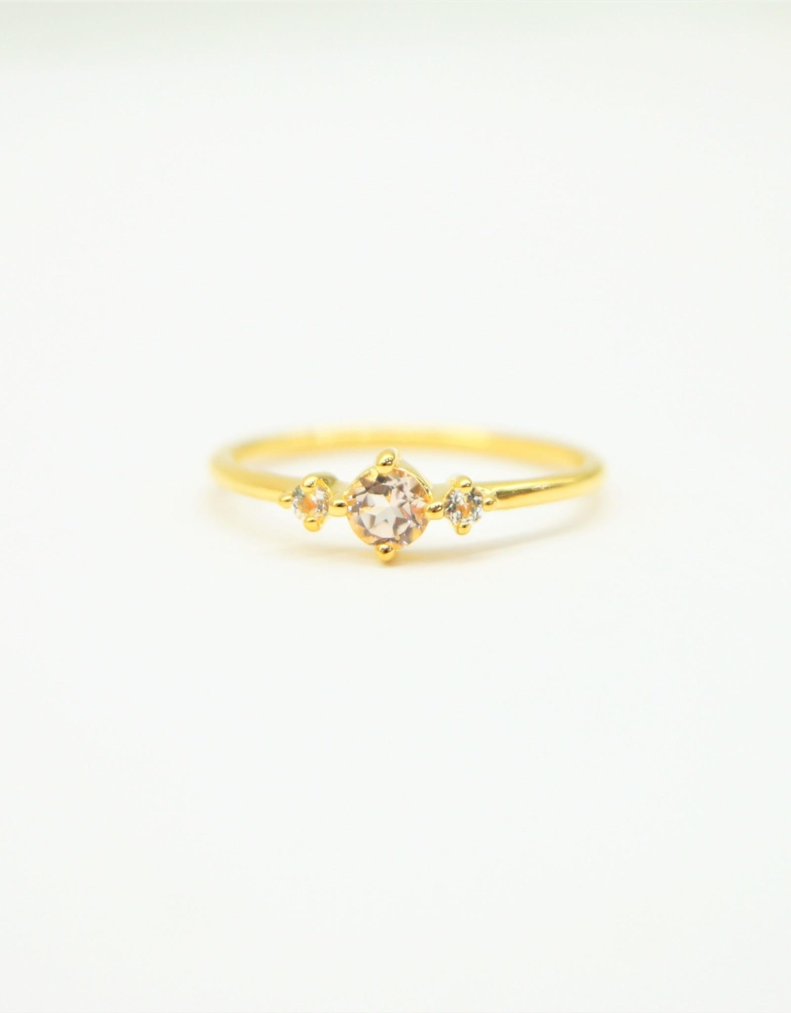 Tashi Morganite & White Topaz Ring