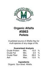 Modesto Milling Alfalfa Pellets