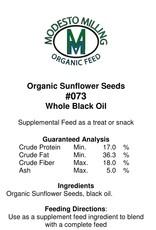 Modesto Milling Black Oil Sunflower Seeds