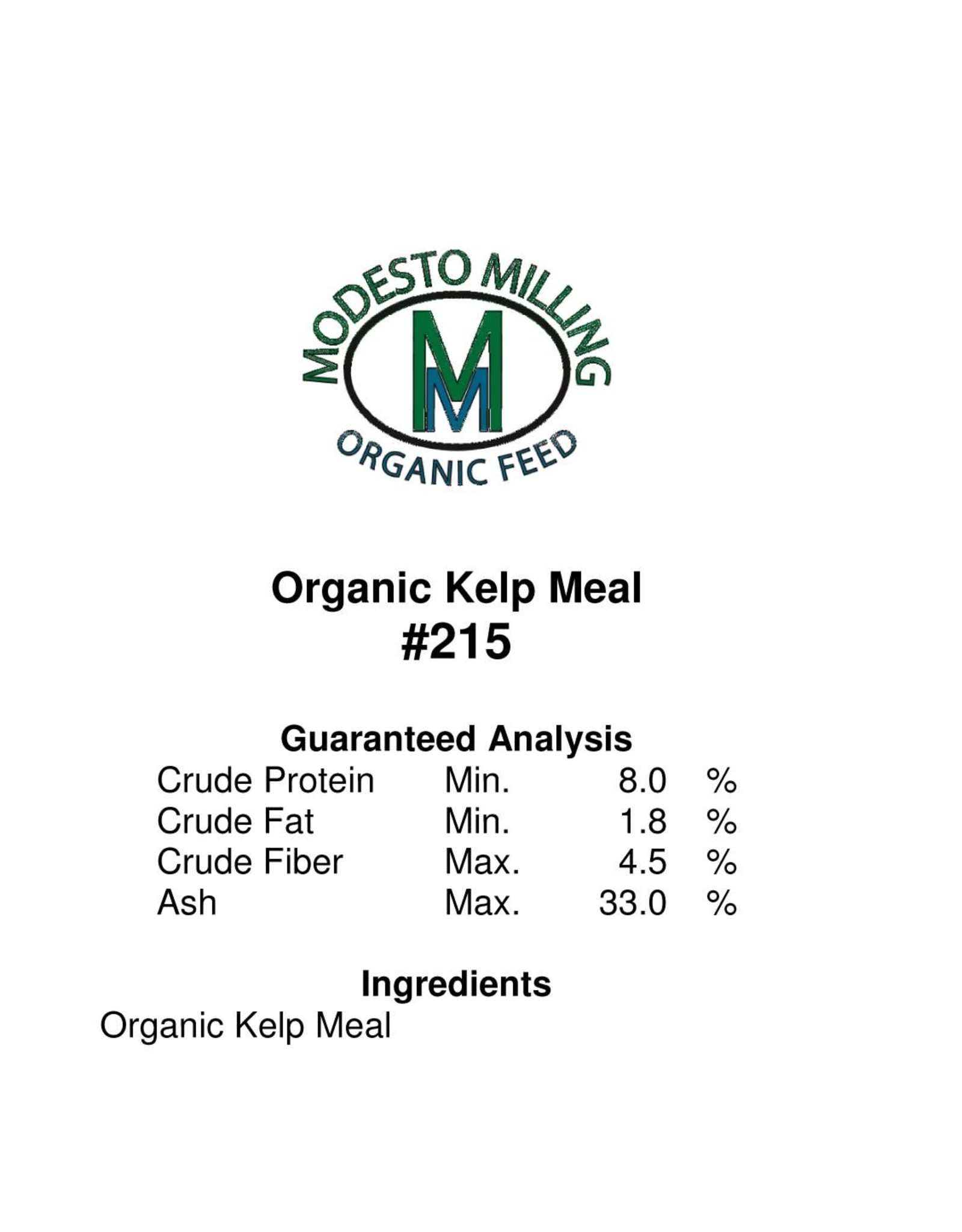 Modesto Milling Organic Kelp Meal