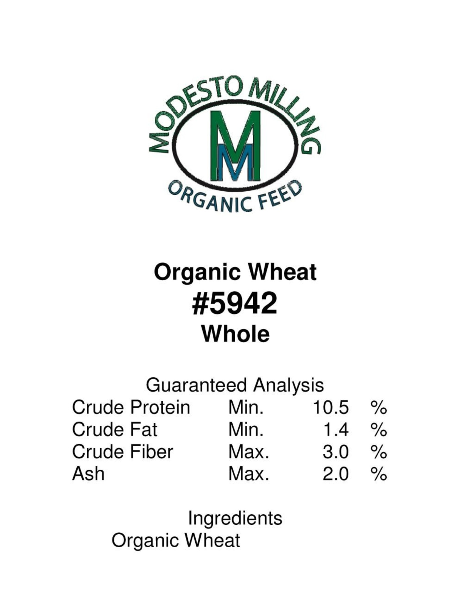 Modesto Milling Organic Whole Wheat