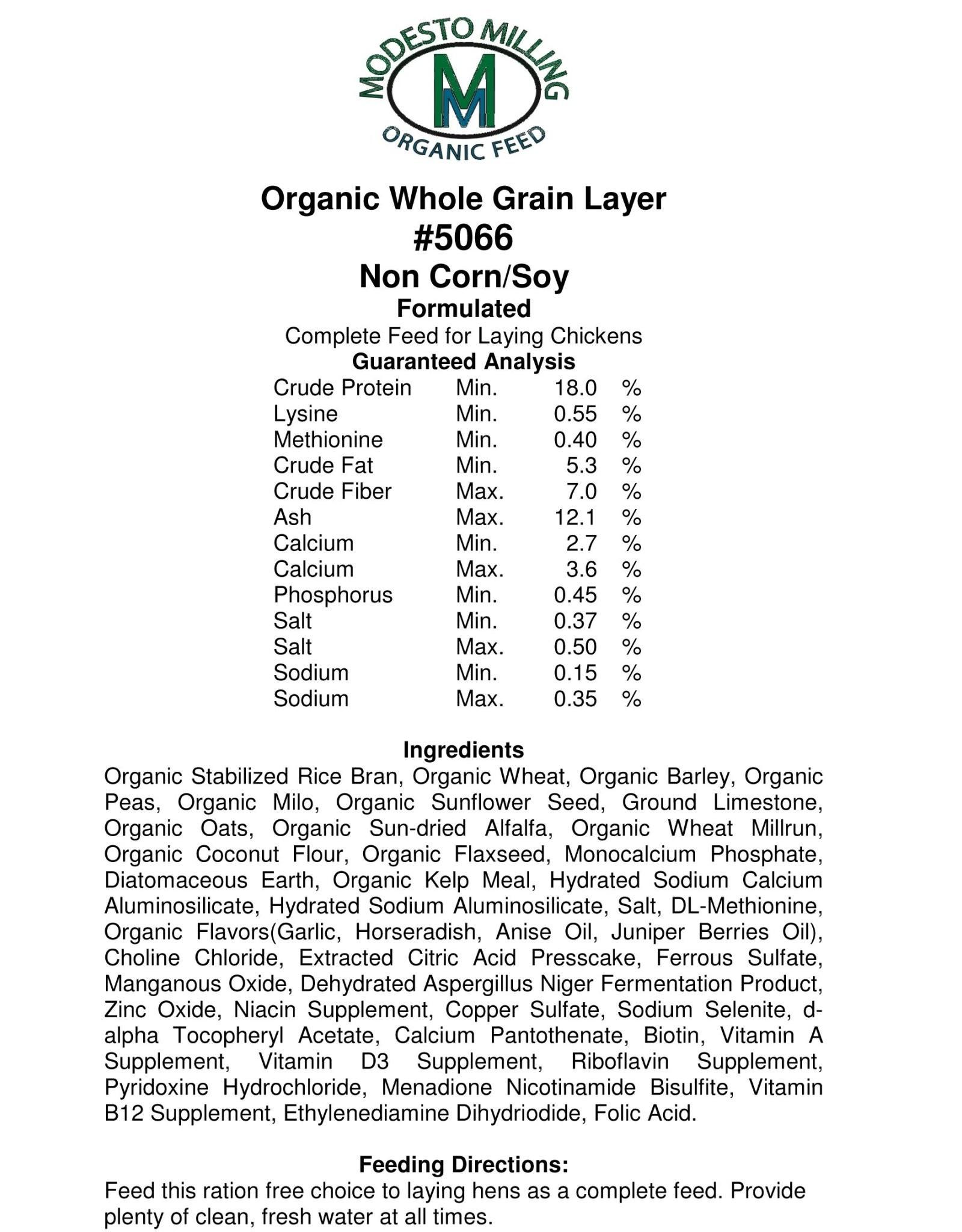 Modesto Milling Whole Grain Layer