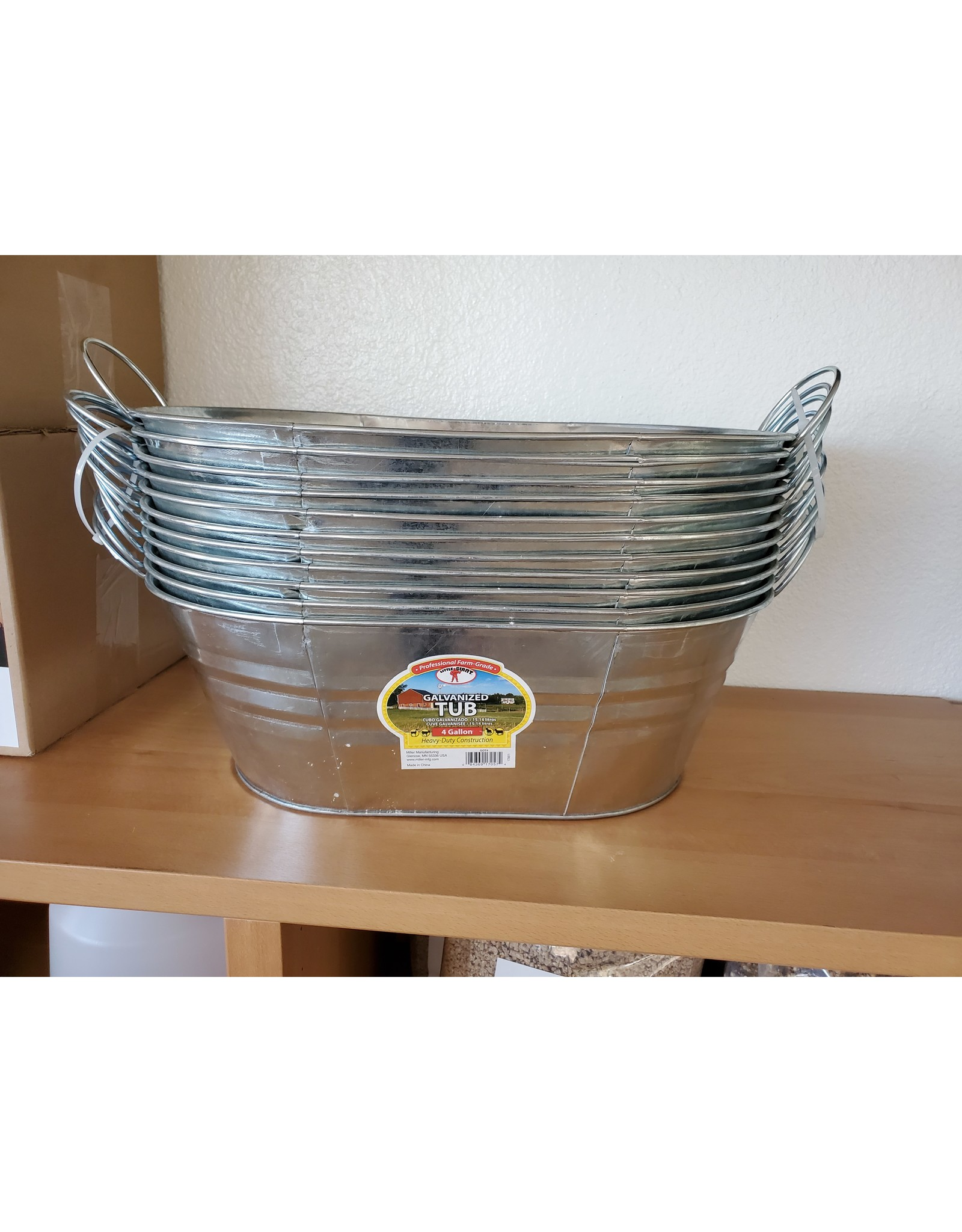 Miller Manufacturing Galvanized Tub  4 gallon