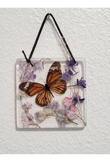 Christina Martin Art Orange Butterfly Sun Catcher