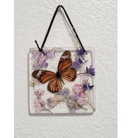 Christina Martin Art Resin Art Orange Butterfly Sun Catcher