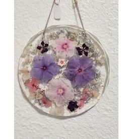 Christina Martin Art Resin Art Pink and Purple Simmer Sun Catcher