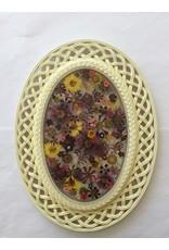 Christina Martin Art Resin Art Flowers in a Vintage Frame