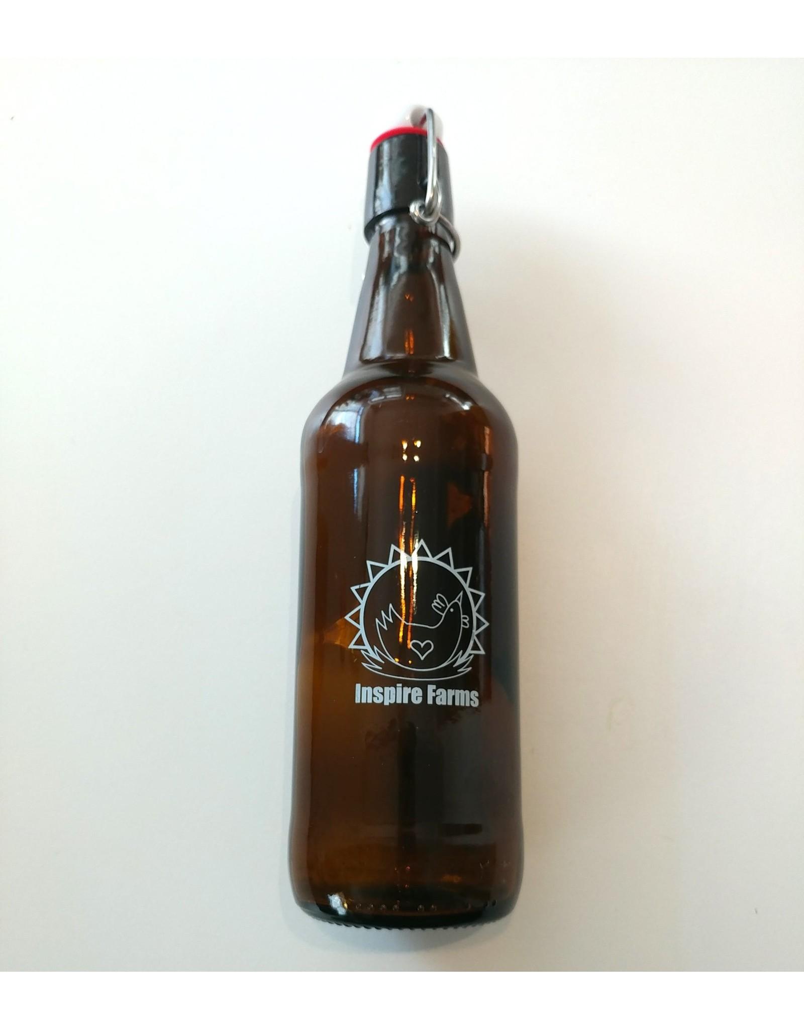 Inspire Farms Amber Swing Top Bottles, 6 bottles