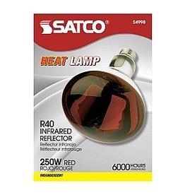 SATCO Red Heat Lamp Bulb 250 watt