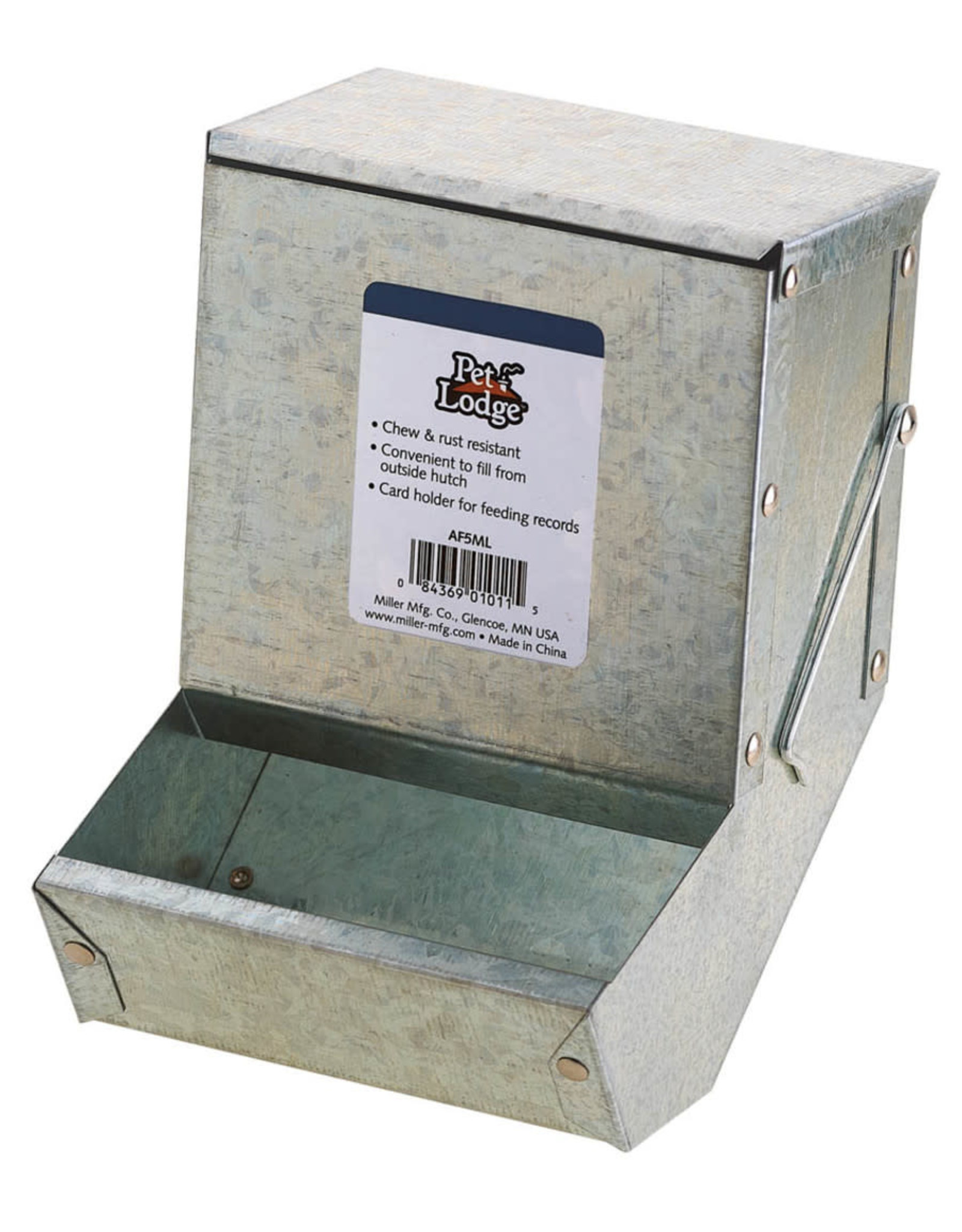 Pet Lodge Pet Lodge Metal Small Animal Feeder with Lid and Metal Bottom 1ea/5 in Pet Lodge