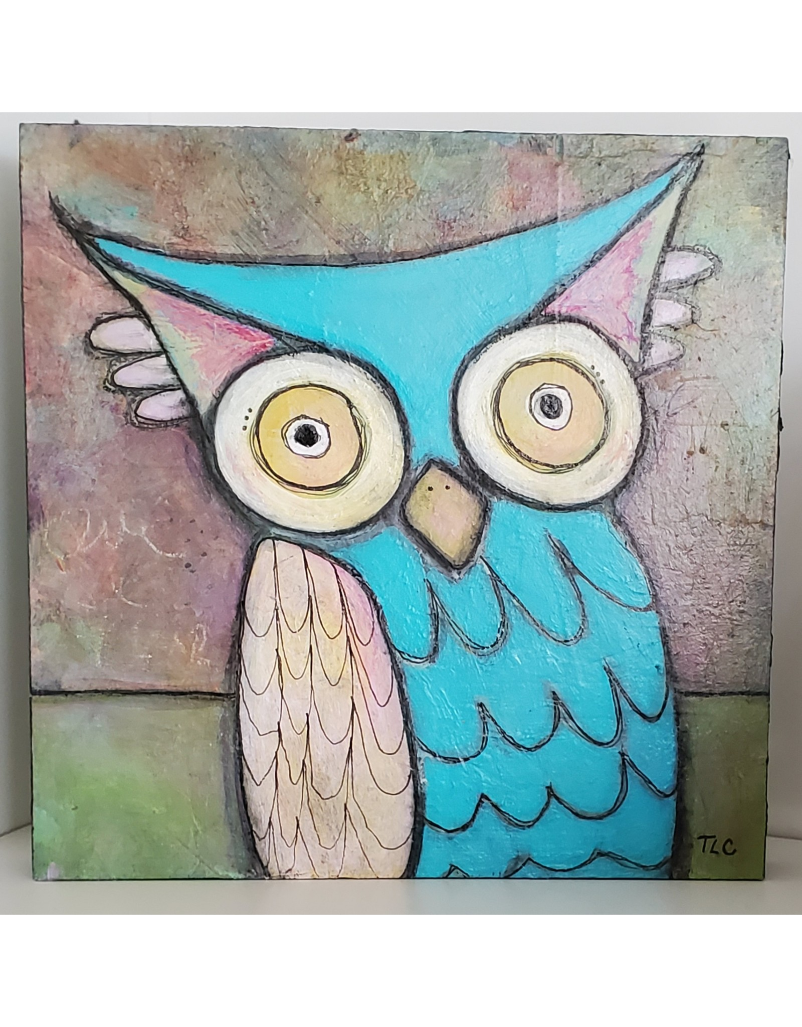 Inspire Farms Owl Painting on Wood 6x6