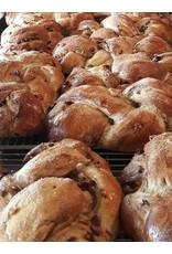 Hollyhock and Nopal Bakery Cinnamon Cranberry Walnut Challah Bread
