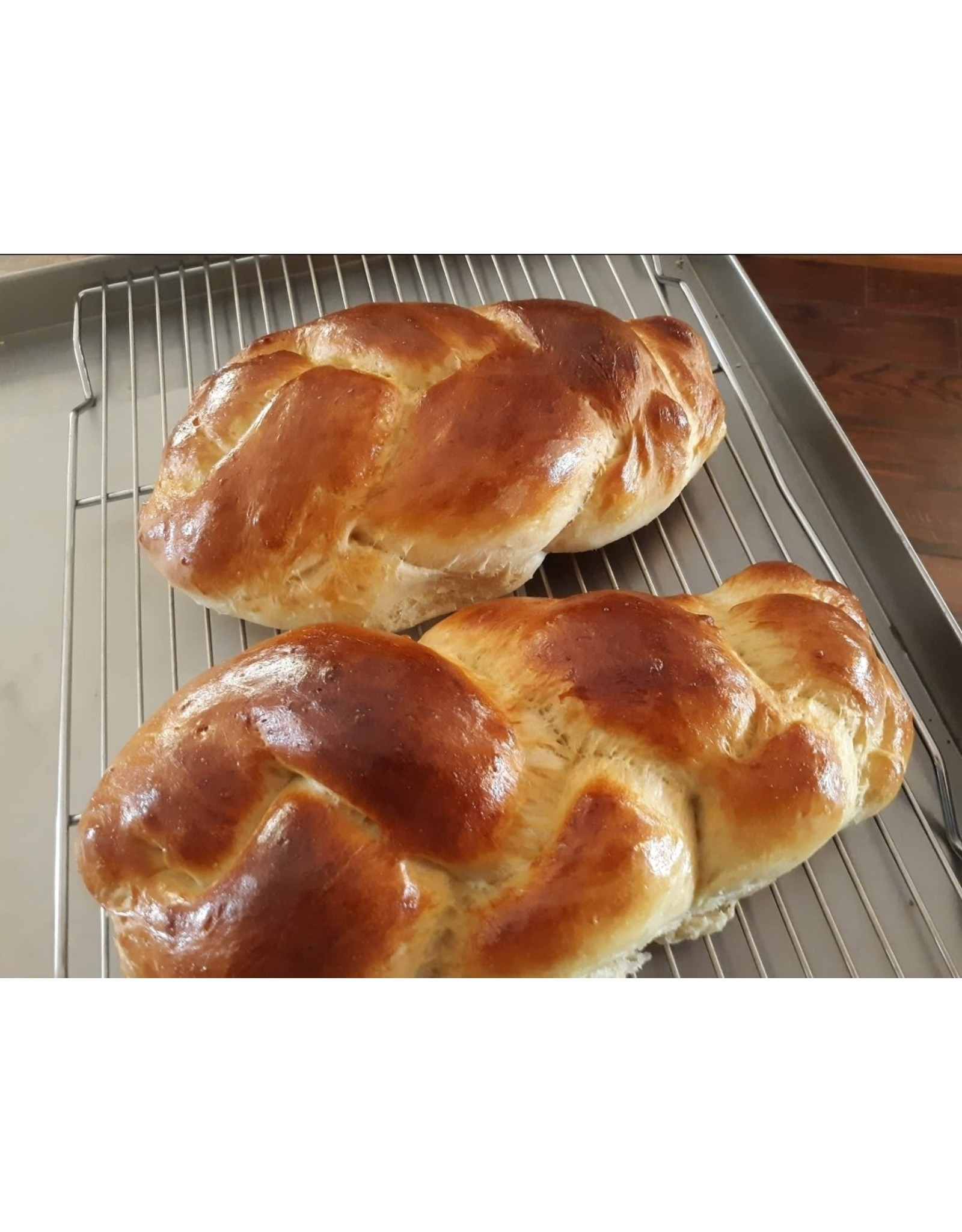 Hollyhock and Nopal Bakery White Wheat Challah Bread