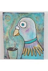 Inspire Farms Original Art - Coffee Pigeon - Tiffiny Lilley