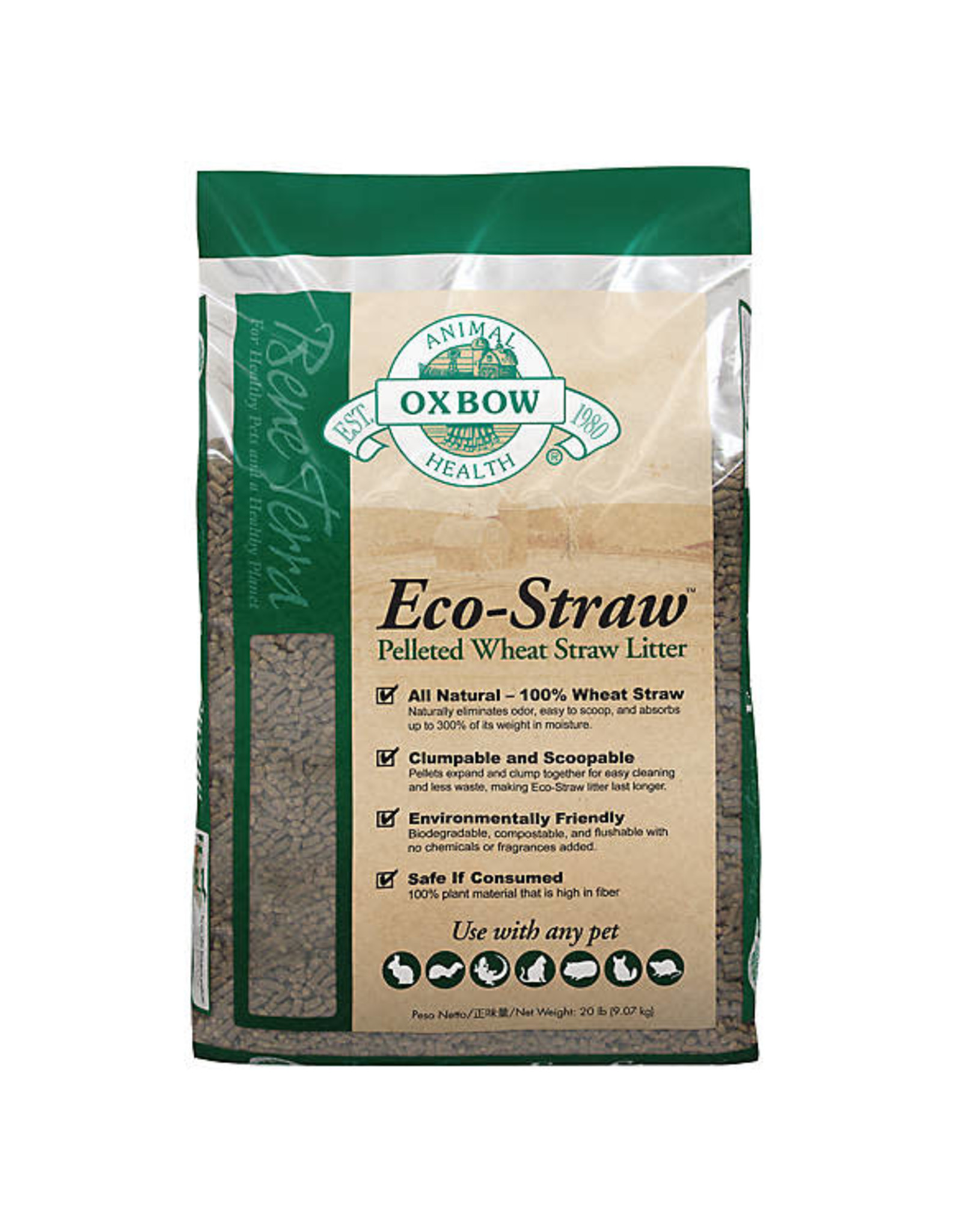 Pet Experts Oxbow Eco Straw Litter 20#