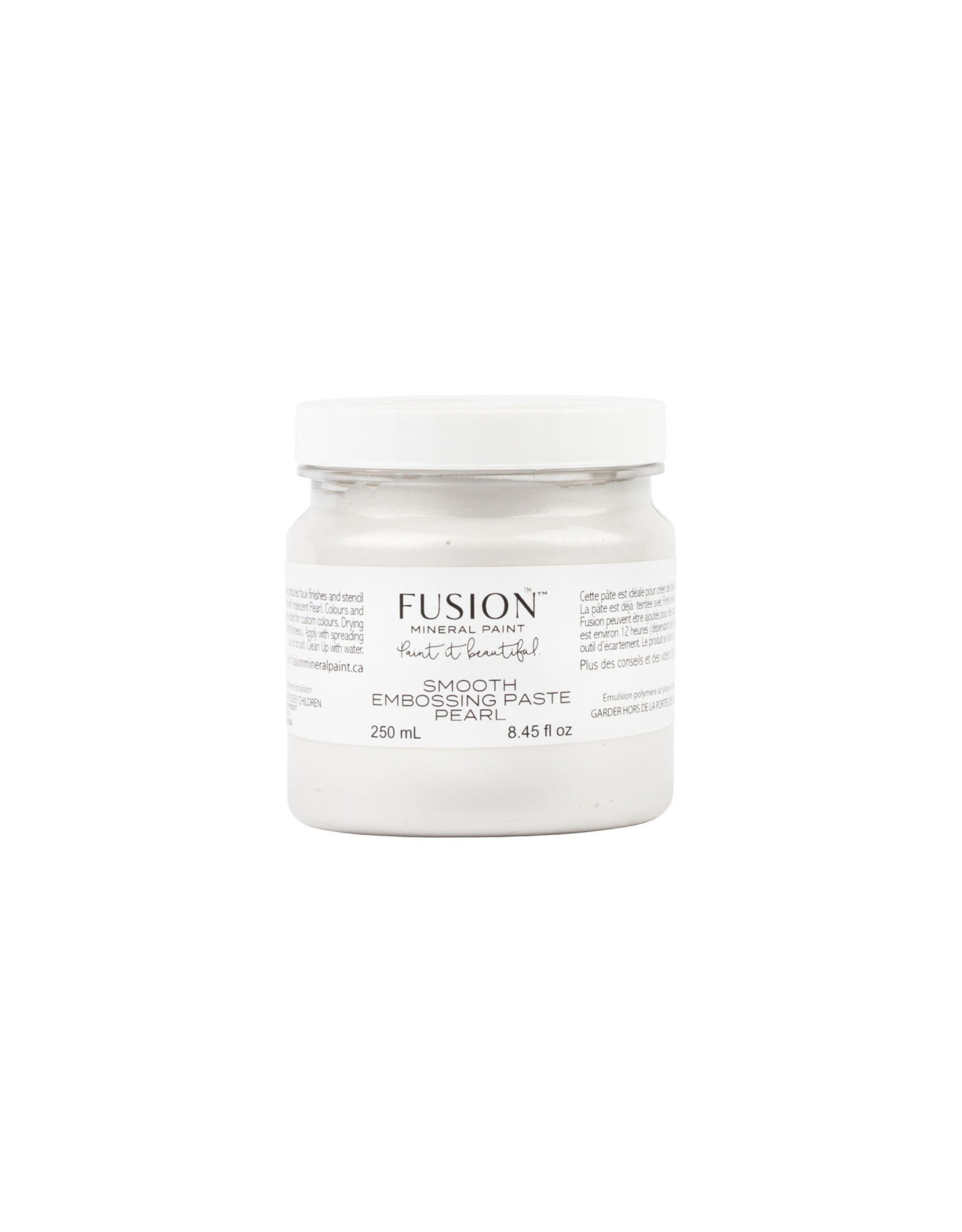 Fusion Mineral Paint Smooth Embossing Paste - Pearl 250ml
