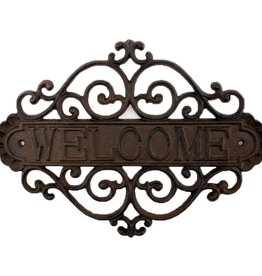 Welcome Cast Iron Sign