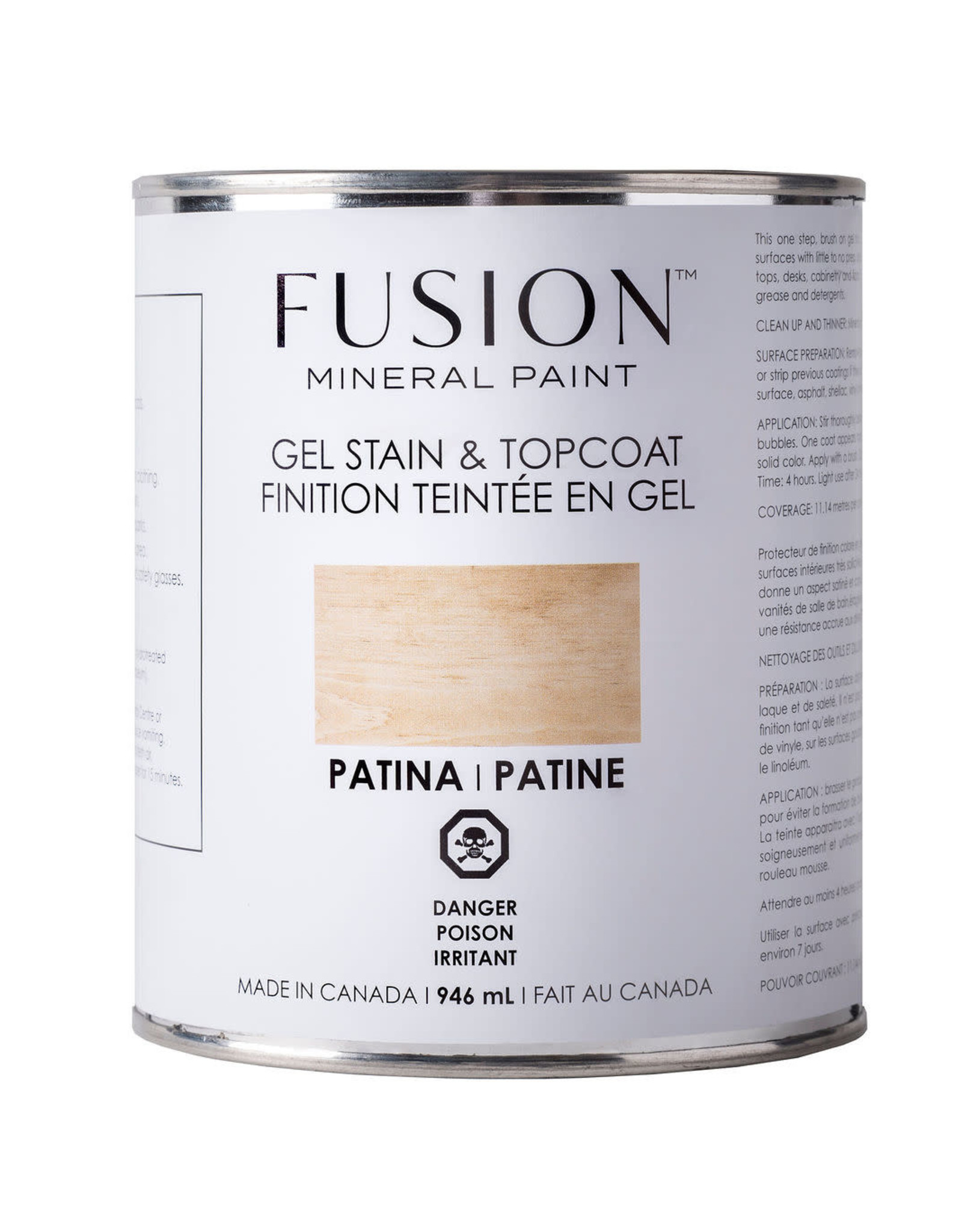 Fusion Mineral Paint Gel Stain & Topcoat - Patina