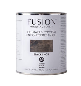 Fusion Mineral Paint Gel Stain & Topcoat - Black
