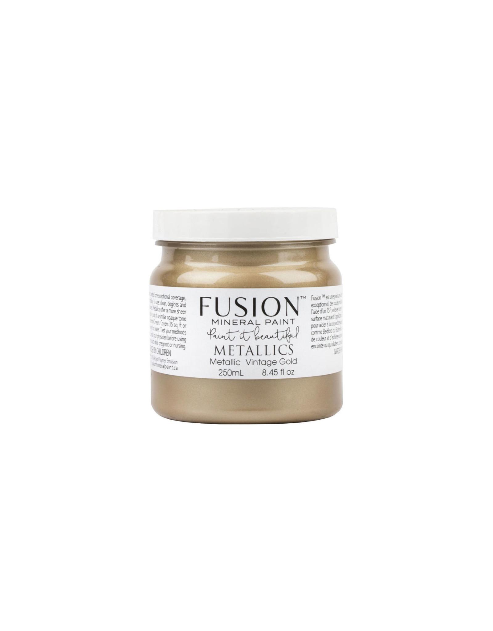 Fusion Mineral Paint Metallic 250ml Vintage Gold