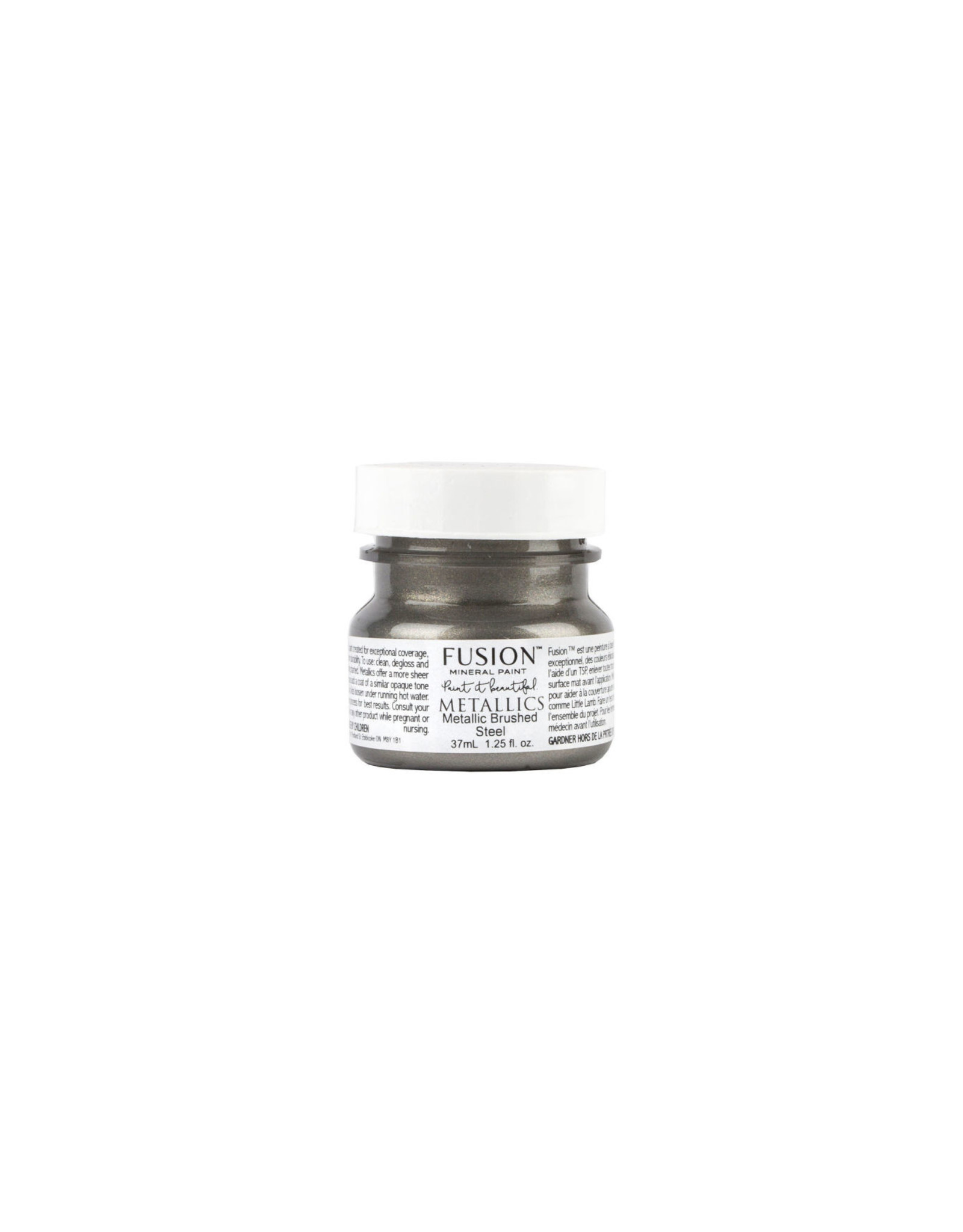 Fusion Mineral Paint Metallic 37ml Brushed Steel