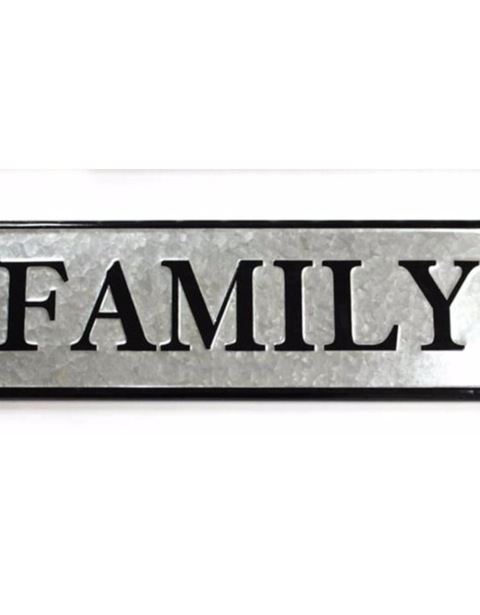 Family Galvanized Sign