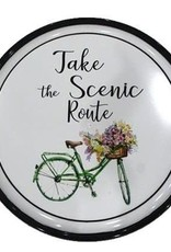 Take the Scenic Route Bicycle Plaque
