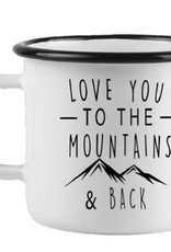 Enamel XLG Cottage Mug - Love You to the Mountains
