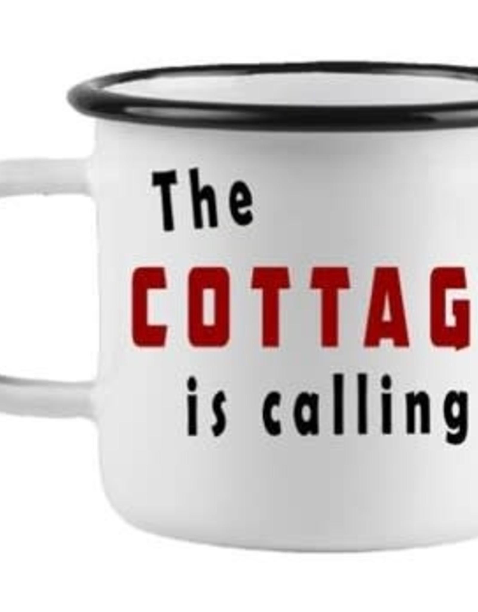 Enamel XLG Cottage Mug - Cottage is Calling