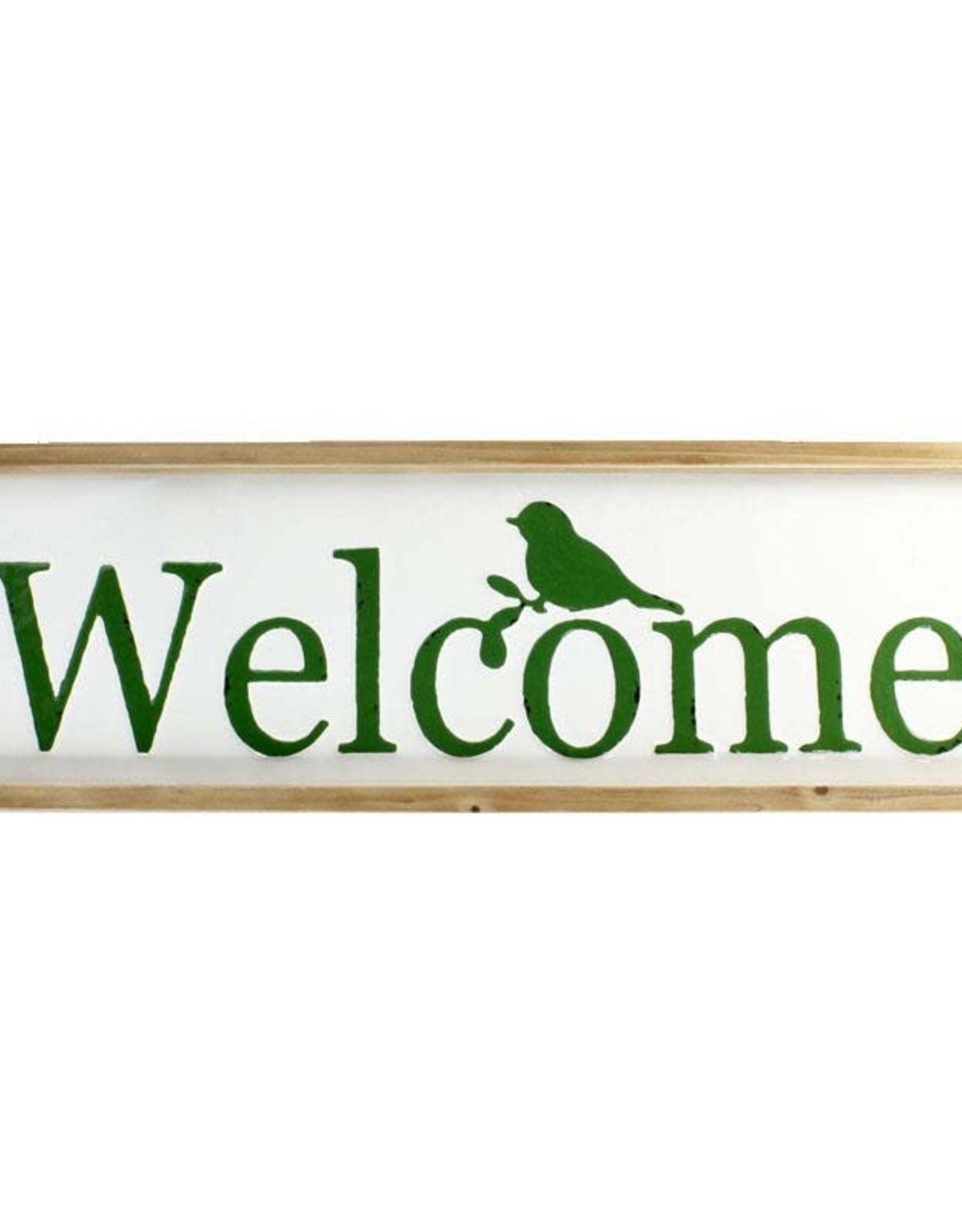 Welcome Bird Sign