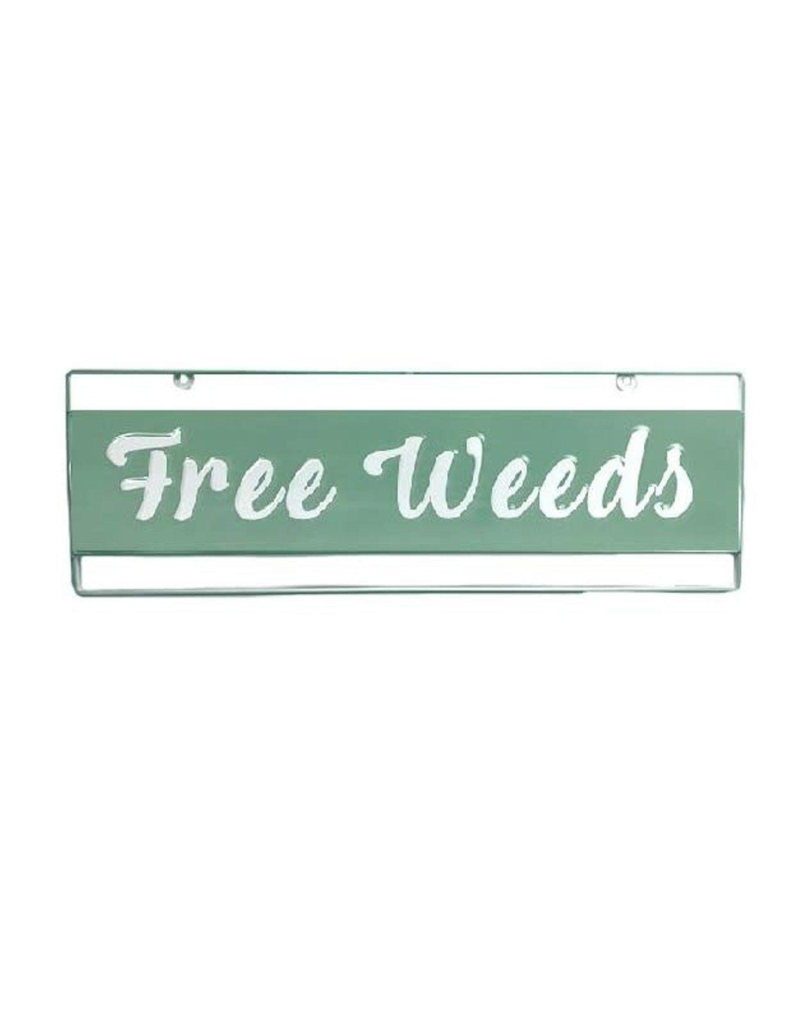 Garden Plaque - Free Weeds