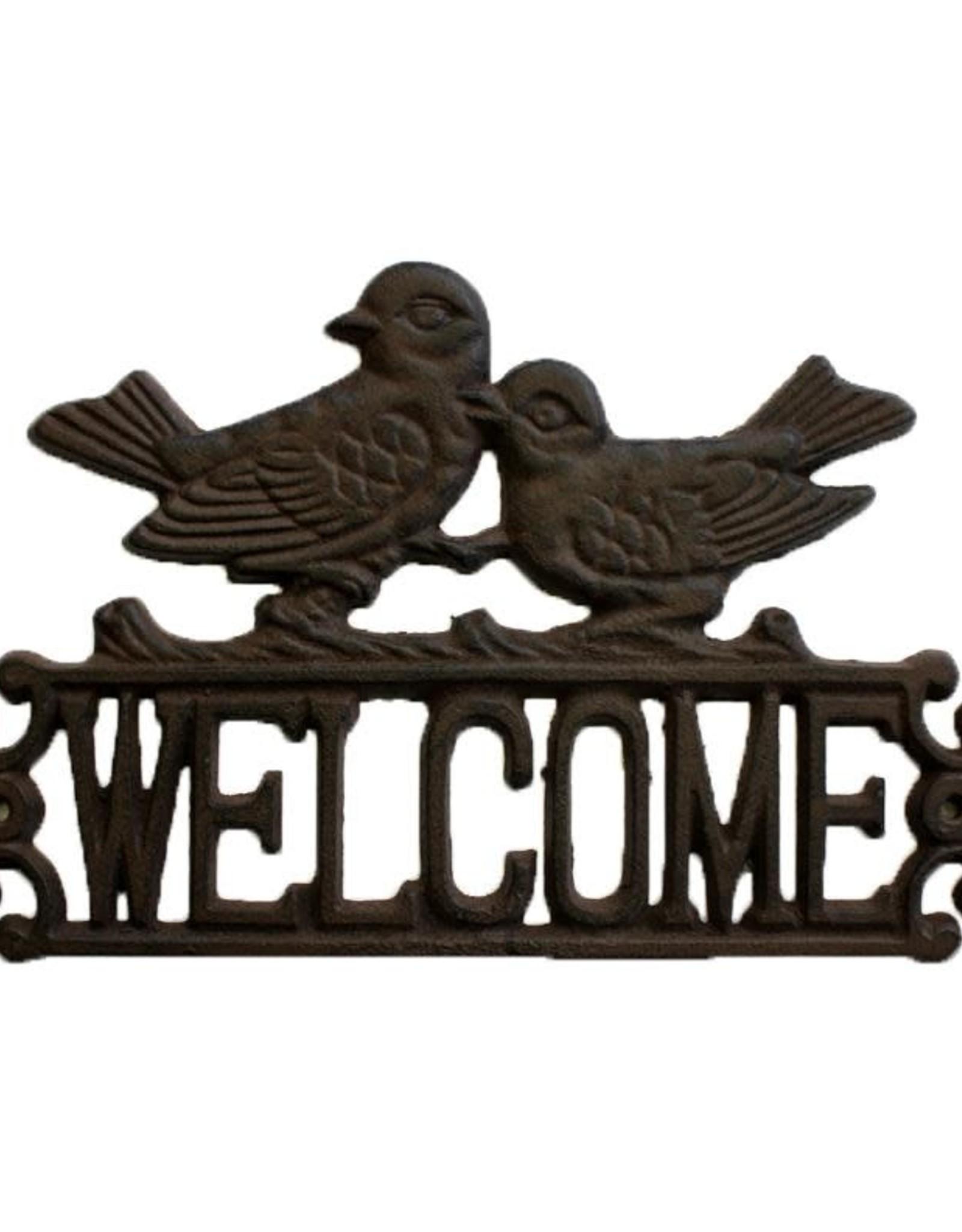 Cast Iron Welcome Bird Sign