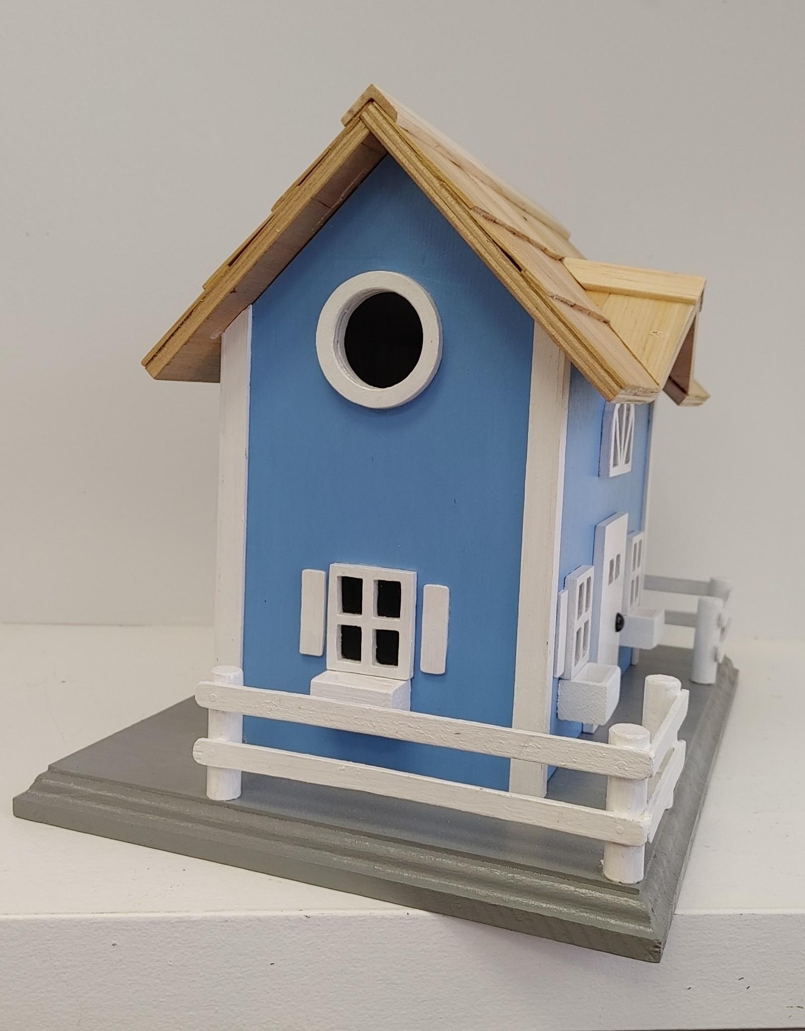 Blue Cottage Birdhouse